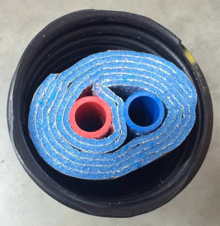 Insulated pex pipe for Pex water pipe insulation